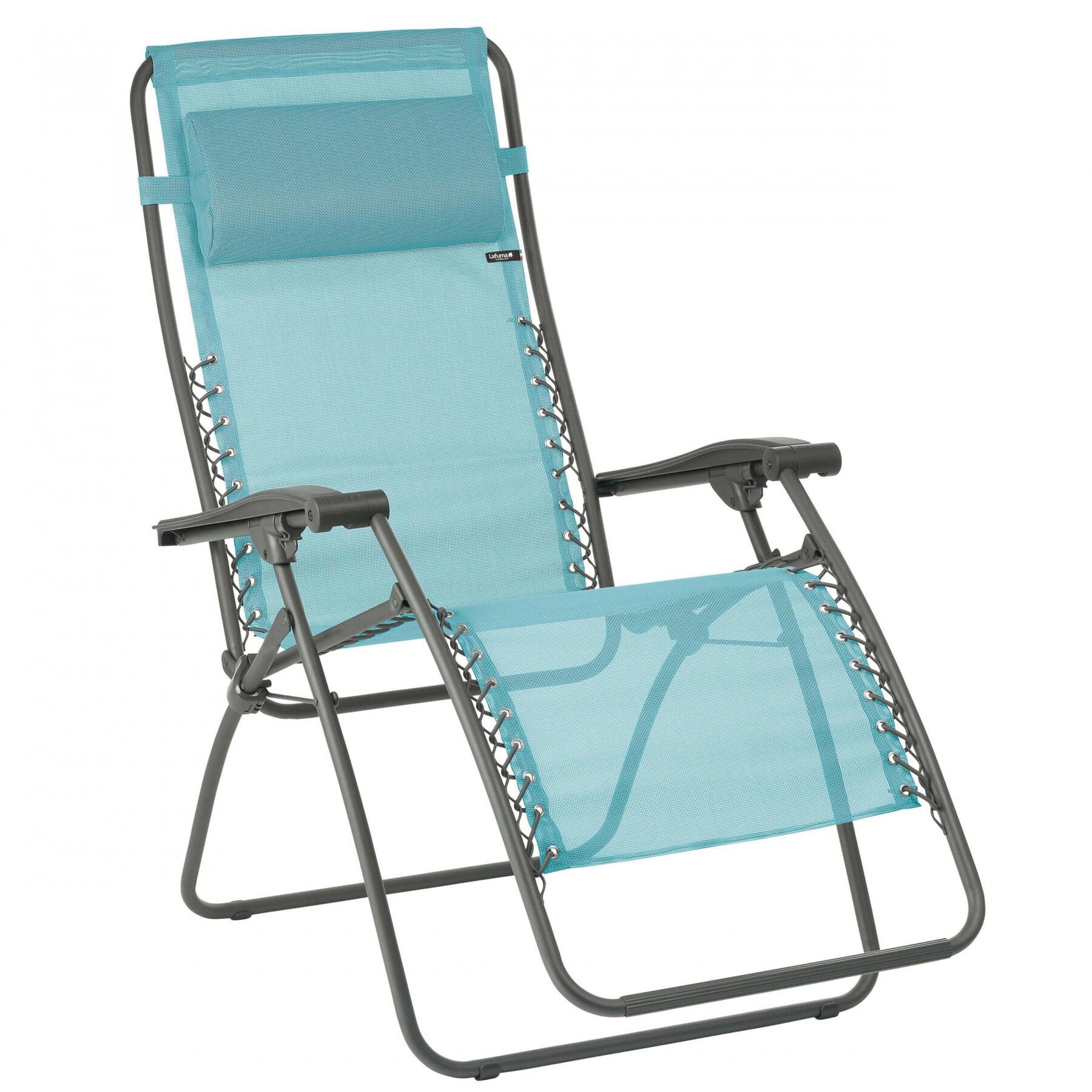 Lafuma Mobilier RSXA Chaise longue avec Cannage Phifertex